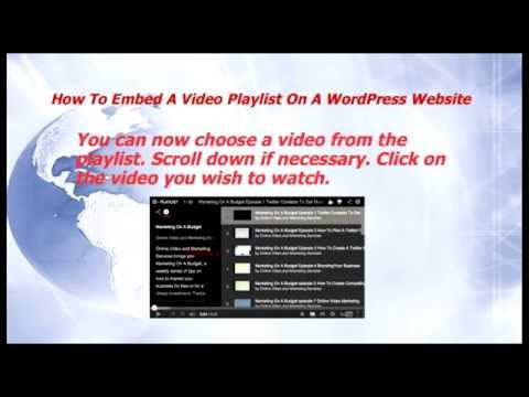 How To Embed A Video Playlist (YouTube) On A WordPress Website – Marketing On A Budget episode 21