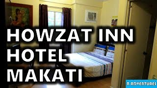 Howzat Inn, Studio Hotel, Makati Manila, Philippines S3, Travel Vlog #125