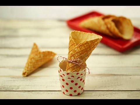 cialde e coni per il gelato - ricetta