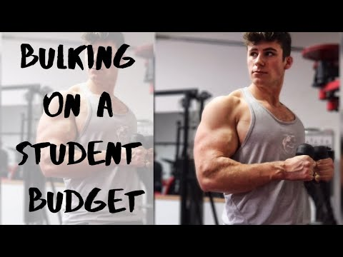 BULKING on a student budget | CHEAP & EASY bulking meals for hardgainers | Full day of bulking