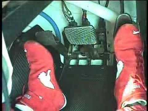 Foot cam from the HRT V8 Supercar hot lap