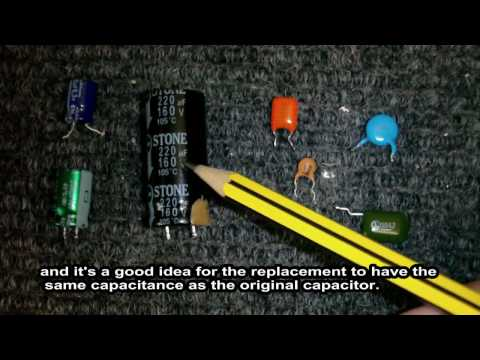 Capacitors - Hee's a video that like the title says is all about capacitors, here I show how to tell the difference between electolytic and non electolytic, what the numb...