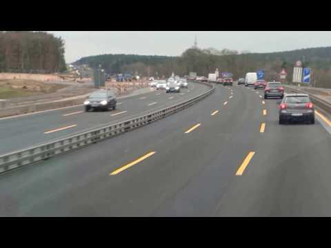 Autobahn A10 bei Ferch (Brandenburg) / 28.01.2018