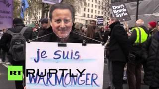 В Лондоне прошел протест против участия Великобритании в военной операции в Сирии