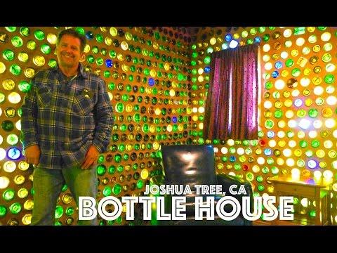 DIY Joshua Tree Tiny House made of 7500 Bottles! (How to Build (видео)
