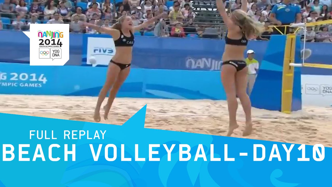 Beach Volleyball – Day 10 women's Semi-Finals | Full Replay | Nanjing 2014 Youth Olympic Games