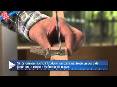 Ferretotal - ¿Cómo instalar Bisagras en un Mueble o Puerta?