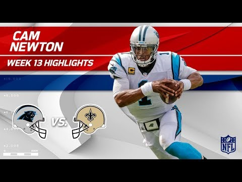 Video: Cam Newton Tosses 2 TDs vs. New Orleans! | Panthers vs. Saints | Wk 13 Player Highlights