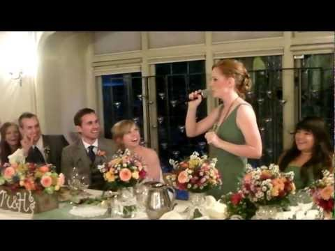 Kelsey's Maid of Honor speech