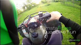 8. Quadbike fun | Wheelies, Drifting, etc | SlimstaRides on a Suzuki Ozark 250