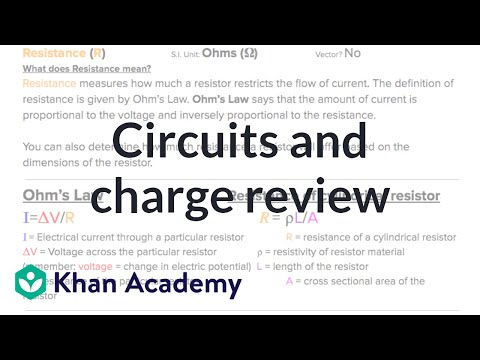 Ap Physics 1 Review Of Charge And Circuits Video Khan Academy