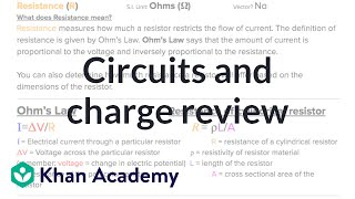 AP Physics 1 Review of Charge and Circuit | Physics | Khan Academy