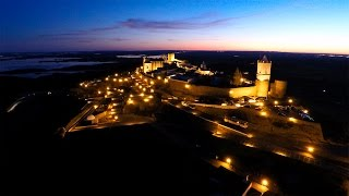 Monsaraz Portugal  city photos : Alqueva and Monsaraz aerial view at dusk 1440P