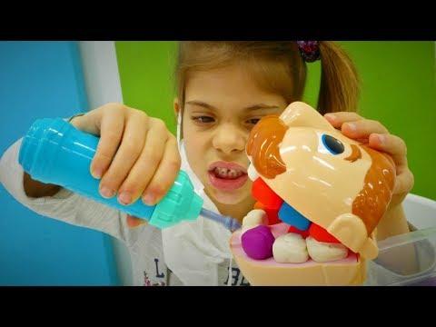 Play doh - Play-Doh Dişçi seti. Oyun hamurundan yeni diş yap