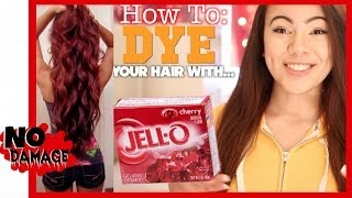 How To Dye Your Hair With Jell-O?!?! - YouTube