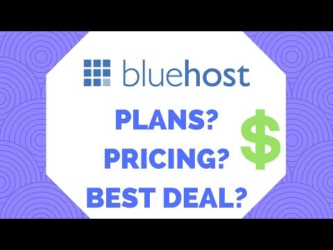 ✅Bluehost Hosting Plans and Pricing 2018 - How To Get The Best Deal (watch before Buying)