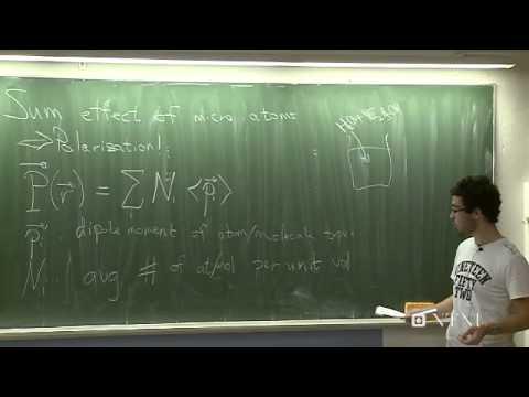 Elektrische Felder in der Materie, Teil 1