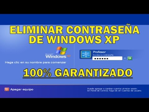 quitar contraseña de windows xp