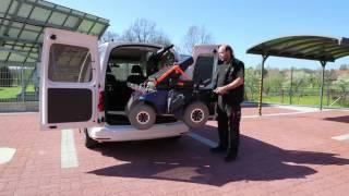 Jeřábek zavazadlový Harmar AL435 001 ve voze VW Caddy - naložení