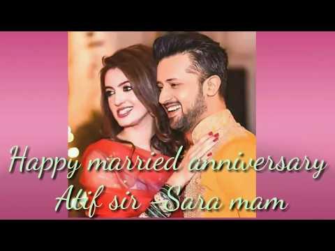 Video Atif Aslam & Sara Bharwana marriage anniversary special download in MP3, 3GP, MP4, WEBM, AVI, FLV January 2017