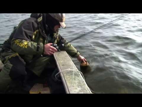 блеснение окуня с лодки видео