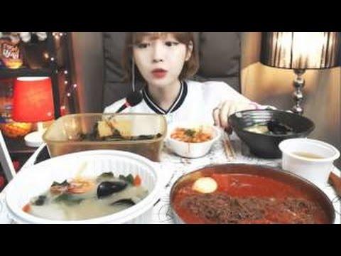 해물수제비,코다리비빔냉면  슈기의 먹방 Shoogi's Eating Show mukbang 최근