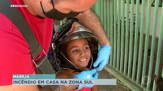 Menores ficam feridos em incêndio na zona sul de Marília