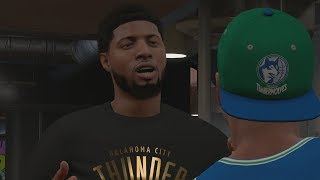 NBA 2K18 My Career - Paul George Shows Up! PS4 Pro 4K Gameplay