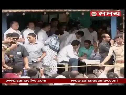 Rahul Gandhi met families of injured Dalits in Una