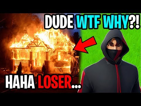 My Ex Girlfriends Little Brother Tried Burning Down My House...(Fortnite)