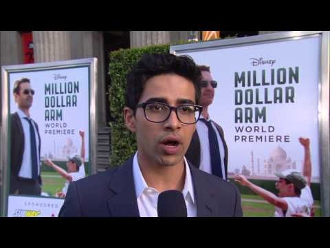 "Million Dollar Arm: Suraj Sharma ""Rinku"" Movie Premiere Interview"