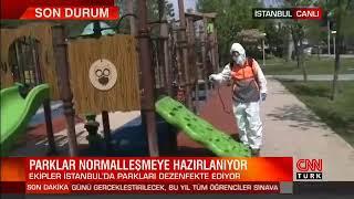 Gaziosmanpaşa'daki Parkları İlaçlama Çalışmaları - Cnn Türk