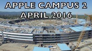 APPLE CAMPUS 2: April 2016 Construction Update 4K (Alternate Music)