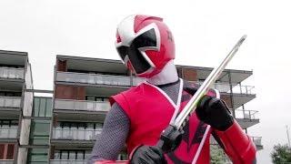 Power Ranger Ninja Steel  Ranger Rojo vs Spinferno - capitulo 3