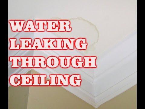 WATER LEAKING THROUGH CEILING (BATHROOM)