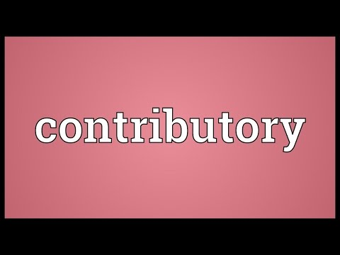 Contributory Meaning