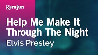 Download Lagu Karaoke Help Me Make It Through The Night - Elvis Presley * Mp3