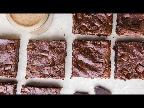 Vegan Almond Butter Brownies - Cook with Me!