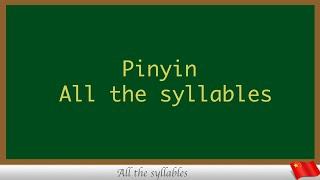 Pinyin All The Syllables