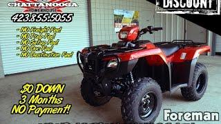 10. 2016 Foreman ES 500 ATV SALE @ Honda of Chattanooga / TN PowerSports Dealer - NO FEES!