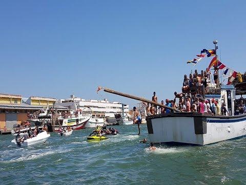 Tradicional Cucaña Fiestas del Carmen de Isla Cristina 2019