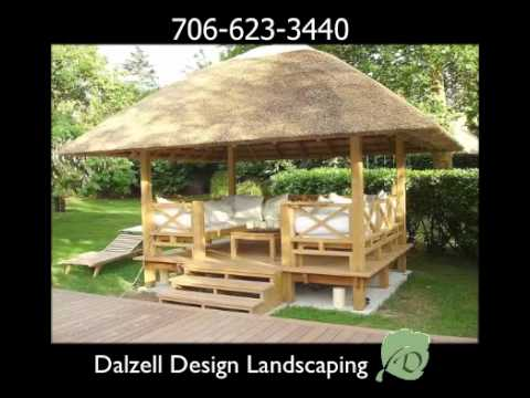 gazebos - http://dalzelldesignlandscaping.com 24 hr. line 706-623-3440 Serving Georgia and South Carolina Here at Dalzell design landscaping we build custom gazebos, p...