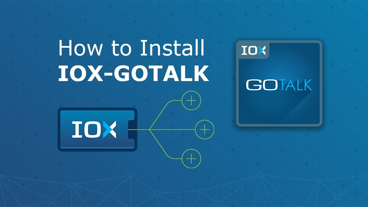 A video showing how IOX-GOTALK works.