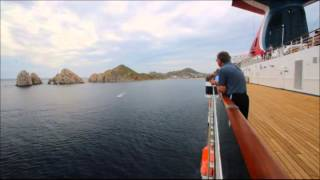 Time Lapse:  Arriving in Cabo San Lucas by cruise ship