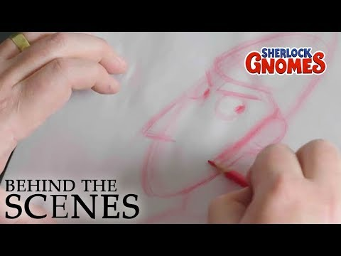 SHERLOCK GNOMES | How to Draw Sherlock | Official Behind the Scenes