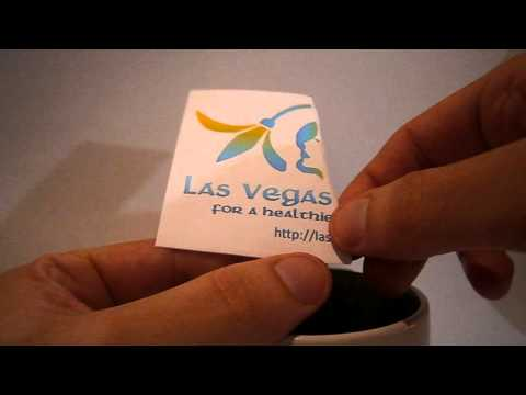 Las Vegas Dermatology Logo Magically Appearing From Coffee Cup