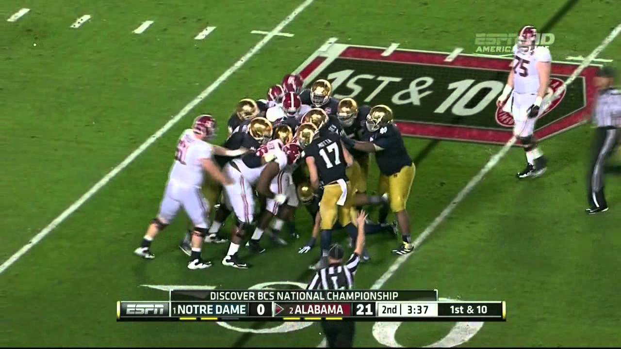 Anthony Steen vs Notre Dame (2012 Bowl)