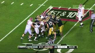 Barrett Jones vs Notre Dame (2012 Bowl)