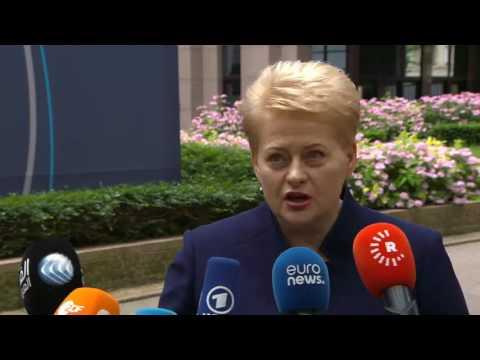 Δηλώσεις της προέδρου της Λιθουανίας, Ντάλια Γκριμπαουσκάιτε