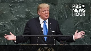 WATCH LIVE: President Donald Trump addresses the United Nations General Assembly